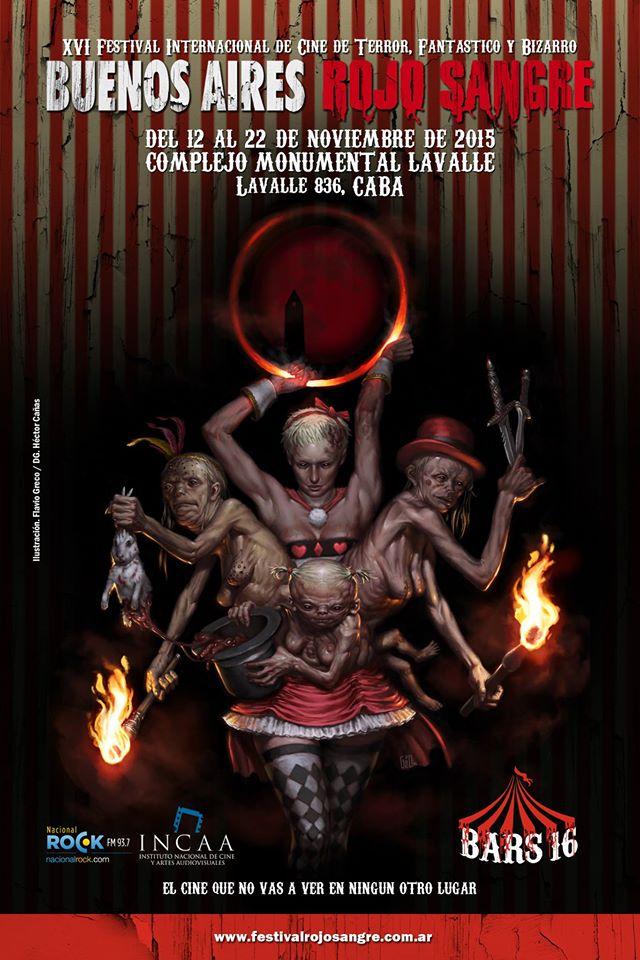 afiche Buenos Aires Rojo Sangre 2015