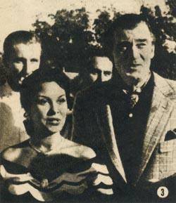 Fanny Navarro junto a Walter Pidgeon en la estancia de los Martínez de Hoz: el astro de Hollywood felicitó a la argentina por su interpretación en EL GRITO SAGRADO